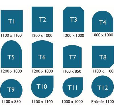 ABX Podkladové sklo pod kamna T 7