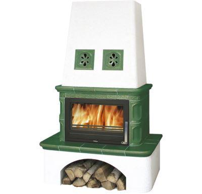 ABX Laponie -Kachlová kamna s výměníkem 7kw zelená   AKCE Zdravá láhev 0,7l
