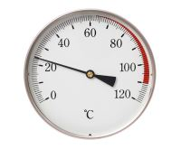 Teploměr DN 80, 0-120°C, zad.výv. 1/2