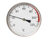 Teploměr DN100, 0-120°C, zad.výv. 1/2