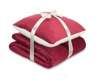 Dormeo Sada polštáře a přikrývky Warm Hug 130x190cm - červená