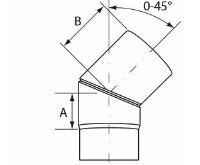 Almeva Koleno 0-45° nastavitelné - ø130