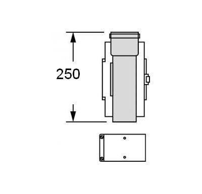 Vaillant Revizní otvor, 0,25 m, O 80/125 mm