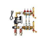 KIIPTHERM PROFI 5 -  3 okruhy, rozdělovač podlahového vytápění s čerpadlem, směšováním, hlavice a průtokom.