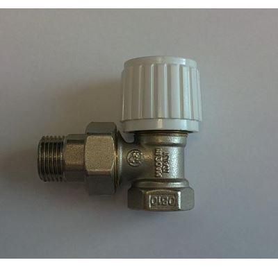"Ruční radiátorový ventil rohový DN20-3/4"" s ucpávkou"