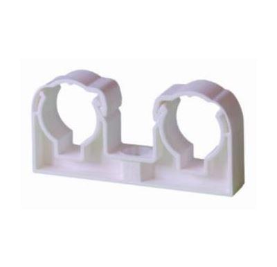 Příchytka plastová dvojitá 2x18 pro Cu