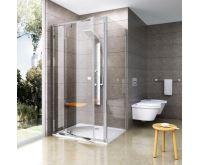 Ravak Sprchové dveře PDOP1-90 bílá+transparent