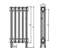 Viadrus Kalor 500 / 160 -  3 článek, litinový radiátor