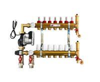 KIIPTHERM PROFI 5R -  7 okruhů, rozdělovač podlahového vytápění s čerpadlem, směšováním, hlavice a průtokom.