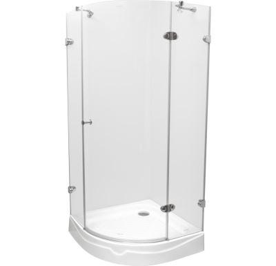 PROFI-RICH Sprchový kout  čtvrtkruh 90x90x190 chrom - sklo - čiré CK70103E