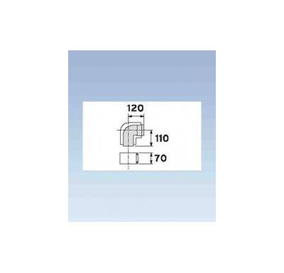 Vaillant Koleno 87°, O 80/125 mm