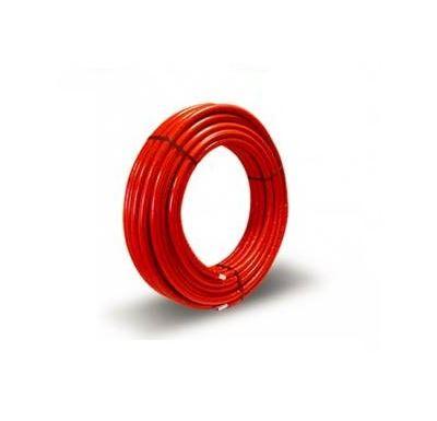 KIIPTHERM Plastová trubka PEX/AL/PEX 26x3 - 95°C | 1m - Izolovaná červená