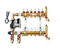 KIIPTHERM PROFI 5 -  6 okruhů, rozdělovač podlahového vytápění s čerpadlem, směšováním, hlavice a průtokom.