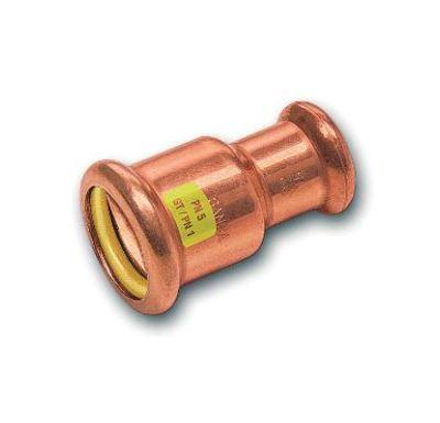 CU lisovací nátrubek redukovaný 9240 - 28 x 22 - pro topení i rozvod plynu F/F
