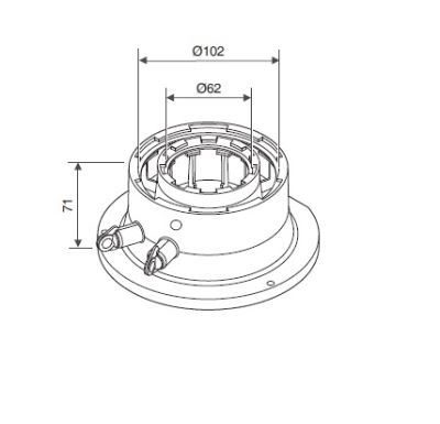 Junkers univerzální příruba 60/100 – pro kondenzační kotle do 32 kW