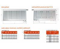 Radiátor VK 11-500/ 400 - PURMO