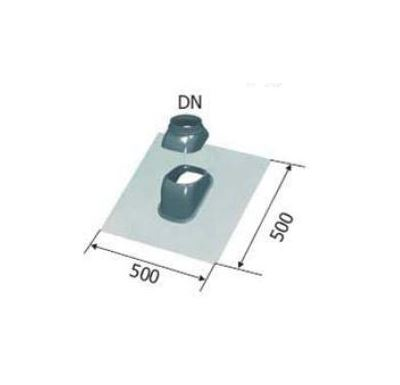 Immergas Průchodka stř.125-25°/50° šikmá černá