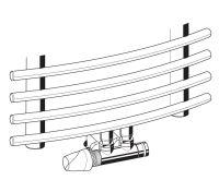 Honeywell Therafix Desing H-blok s termostat.ventilem rohový bílý levý