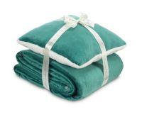 Dormeo Sada polštáře a přikrývky Warm Hug 130x190cm - smaragdově zelená