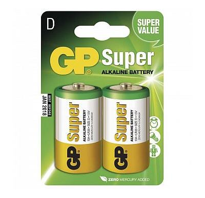 GP Batteries Alkalická baterie GP Super LR20 D 2 ks