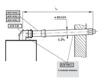 Junkers AZB 600/3 sestava vodorovná 0,4-0,6m