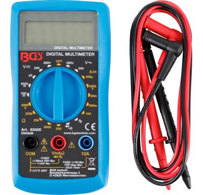 BGS multimetr digitální EM393 10A/250V