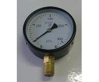"""Manometr - tlakoměr typ 312 - 100mm M20x1,5 """" Radiál - spodní vývod 0-400 kPa"""