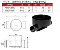OSMA kanalizační šachta 315x1000 mm průchozí KG 200 poklop teleskopický plný - 40t