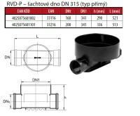 OSMA kanalizační šachta 315x2000 mm průchozí KG 160 poklop teleskopický pochůzný - 1,5t