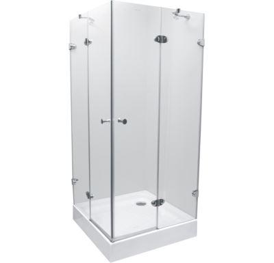 PROFI-RICH Sprchový kout čtvercový  90x90x190 chrom - sklo - čiré CK70111E