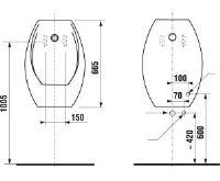 JIKA Urinál DOMINO - se senzorem