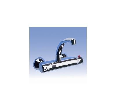 SANELA Automatická nástěnná termostatická baterie, rozteč 100 mm, 9V, SLU 25BK