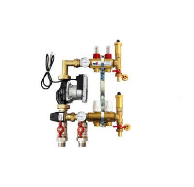 KIIPTHERM PROFI 5R -  2 okruhy, rozdělovač podlahového vytápění s čerpadlem, směšováním, hlavice a průtokom.