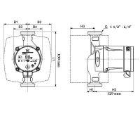 GRUNDFOS ALPHA2  25-60 - 180 mm Čerpadlo pro topení