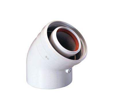 BAXI Koaxiální koleno 45 ° (new)