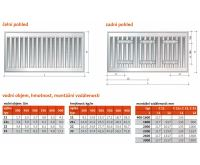 Radiátor Klasik 11-300/ 600 - PURMO