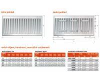 Radiátor Klasik 11-450/1000 - PURMO