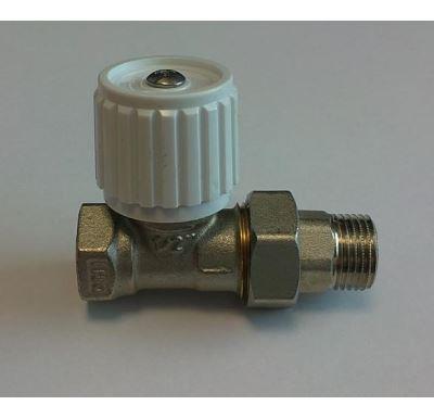"""Ruční radiátorový ventil přímý DN10-3/8"""" s ucpávkou"""
