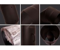 HS Flamingo Přechodka (redukce) kamna - komín 180 mm/150 mm/1,5 mm