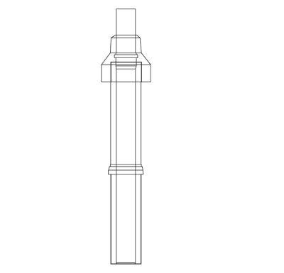 ALMEVA LIK/LIL střešní nástavec 1100mm 80/125 černá