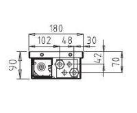 BOKI InFloor Podlahový konvektor F1P  90/180-1700mm - pozink S ventilátorem