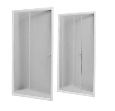 PROFI-RICH Sprchové dveře 120x185 cm - bílé - sklo - čiré