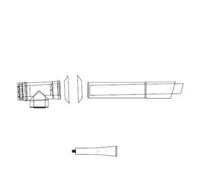 ALMEVA Univerzální sestava fasádního odkouření 60/100 - 3,5 m PPH-PPH