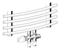 Honeywell Therafix Desing H-blok s termostat.ventilem přímý bílý