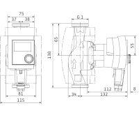 WILO Stratos PICO 15/1-4 - 130 mm oběhové čerpadlo pro topení