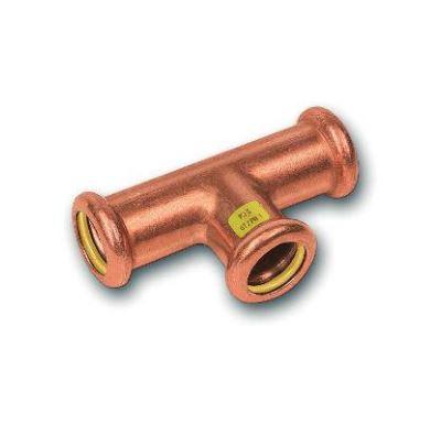 CU lisovací T-kus redukovaný  9131 - 28 x 28 x 22 - pro topení i rozvod plynu