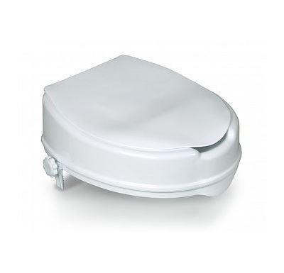 HomeLife Zvýšené sedátko na WC s poklopem BT430
