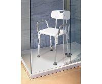 HomeLife Koupelnová židle výškově stavitelná
