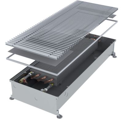 MINIB Podlahový konvektor COIL-PT300  2500 mm Bez ventilátoru, mřížka 292 mm