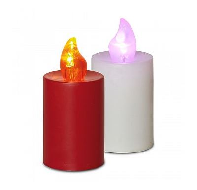 HomeLife Elektrická svíčka s plamenem 2 ks